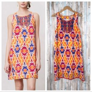 Anthropologie 10 Sequined Kaleidoscope Dress Shift